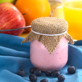 Blueberry Yogurt Royalty Free Stock Photography