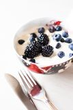 Blueberry with yogurt Stock Images