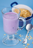 Blueberry yogurt. For the breakfast Royalty Free Stock Images