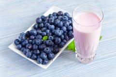 Blueberry yogurt Stock Photos