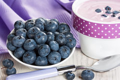 Blueberry and yogurt Royalty Free Stock Images