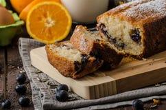 Blueberry yogurt sweet bread Stock Photo