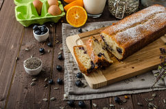 Blueberry yogurt sweet bread Royalty Free Stock Photos