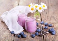 Blueberry yogurt Stock Image