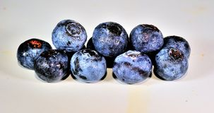 Blueberrys. A bunch of blueberries with white background Royalty Free Stock Photo