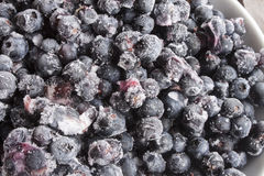 Blueberrys,taken straight from the freezer Royalty Free Stock Image