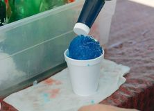 Bluebery śniegu rożek Obrazy Royalty Free