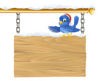 Bluebird Christmas sign Royalty Free Stock Photography