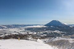 A bluebird day at Hanazono Stock Image