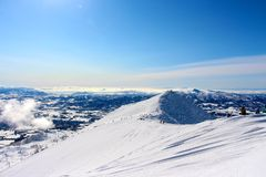 A bluebird day at Hanazono view from the peak Royalty Free Stock Image