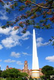 Bluebird day in the park at yangon mala bandula park. The downtown park in the center of yangon burma myanmar Royalty Free Stock Photography