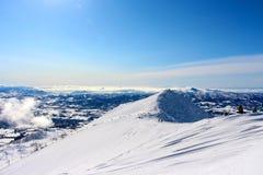 Bluebird dzień przy Hanazono widokiem od szczytu Obraz Royalty Free