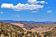 Bluebird Mine, Tonto National Forest, Globe-Miami District, Gila County, Arizona, United States. Scenic landscape view of Bluebird Mine, located in Tonto Stock Photography