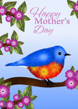 Bluebird Mothers Day Greeting Card Design Royalty Free Stock Photos