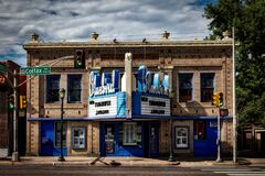 Bluebird movie theater, Denver, Colorado Royalty Free Stock Photography