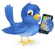 Bluebird z telefon komórkowy royalty ilustracja