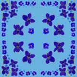 BlueBlossomsNapkinBlue2 Royalty-vrije Stock Foto's