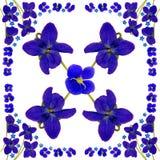 BlueBlossomsNapkinWhite1 Stock Foto