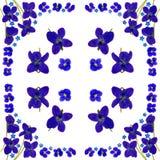 BlueBlossomsNapkinWhite2 Stock Foto