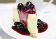 Blueblurry cheesecake Fotografia Royalty Free