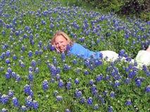 Bluebonnet Babe stock foto's