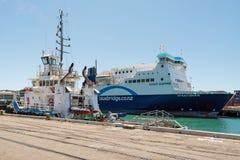 Bluebridge ferry anchored in Wellington port, New Zealand Stock Photography