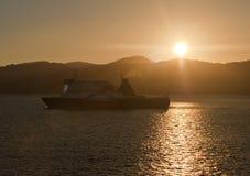 BlueBridge Ferry at Cook Strait, New Zealand Stock Photography