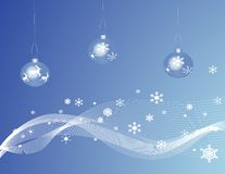 Free BlueChristmas Baubles Royalty Free Stock Image - 3210156