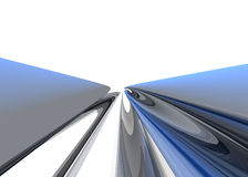 BlueChrome Tube Royalty Free Stock Photo