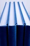 blueclose fyra isolerade anteckningsbokar upp Royaltyfria Bilder