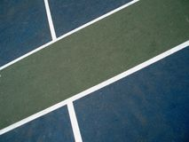 BlueCourt_2. Abstract images of the shapes and lines on a colorful basketball court Stock Photos