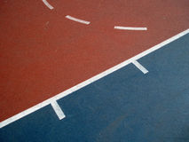 BlueCourt_3. Abstract images of the shapes and lines on a colorful basketball court Royalty Free Stock Photography