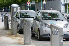 BlueCub electric car sharing recharging point in Bordeaux, France Stock Photo