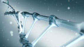 BlueDNA het spiraalvormige roteren stock footage