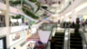 Blueed, scale mobili in centro commerciale centrale alla strada Bangna-Trad Bangkok Tailandia archivi video