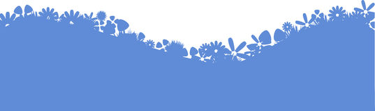 Bluefield Of Flowers Royalty Free Stock Photos