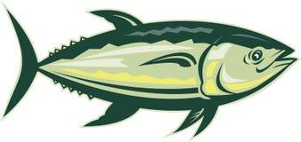 Bluefin het zijaanzicht van tonijnvissen Stock Foto's