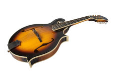 Bluegrass Mandolin Isolated on White Stock Images