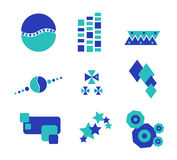 BlueGreen Abstract Design. Abstract design in green and blue with star, puzzle, water concepts Stock Photography