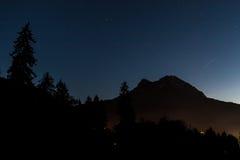 Bluehour in berg Royalty-vrije Stock Foto