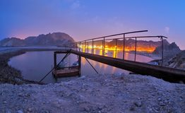 Bluehour at Muscat beach Royalty Free Stock Photography