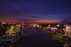 bluehours au port de jepara Photographie stock libre de droits