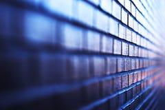 Blueish diagonal brick wall background Stock Image