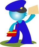 blueman Briefträger liefert Post stock abbildung