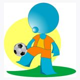 Blueman soccer player Stock Photos