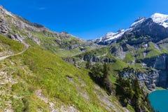 Bluemlisalphorn nahe Oeschinen See in Kandersteg Stockfotos