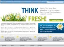 bluen blommar grön website Stock Illustrationer