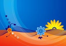 bluen blommar sommar stock illustrationer
