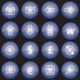 bluen buttons rengöringsduk Royaltyfri Bild