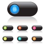 bluen buttons spelarevektorversion Royaltyfri Fotografi